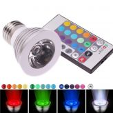 3W E27 16 Color 80LM LED RGB Magic Light Bulb with Wireless Remote Control
