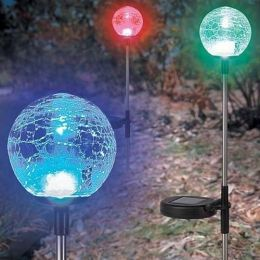 Solar Glass Crackle Ball Lights