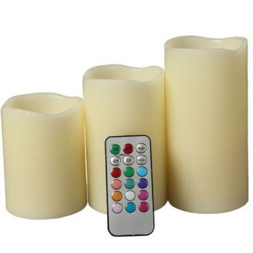 Candles Flameless LED Ivory Color with Remote
