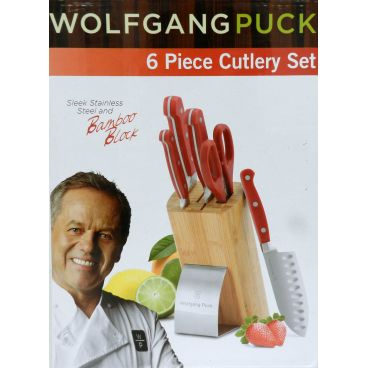 Wolfgang Puck 6 Piece Cutlery Red